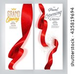 red elegant grand opening... | Shutterstock .eps vector #435819694