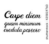 hand drawn typography vector....   Shutterstock .eps vector #435819760