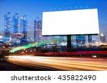 double exposure of blank... | Shutterstock . vector #435822490