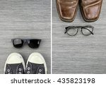 different style of men fashion  ... | Shutterstock . vector #435823198