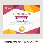 certificate template. modern... | Shutterstock .eps vector #435823294