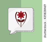 flower vector. garden icon.... | Shutterstock .eps vector #435828469