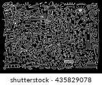 hand drawing doodle vector... | Shutterstock .eps vector #435829078