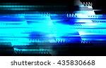blue abstract light hi speed... | Shutterstock . vector #435830668