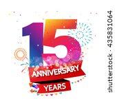 happy anniversary celebration... | Shutterstock .eps vector #435831064