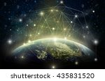 part of earth with network line ... | Shutterstock . vector #435831520
