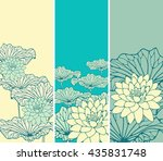 a set of asian style floral... | Shutterstock .eps vector #435831748