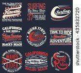 set of creative t shirt graphic ... | Shutterstock .eps vector #435832720