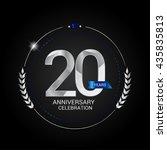 20 years silver anniversary... | Shutterstock .eps vector #435835813