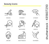 beauty vector icons set ... | Shutterstock .eps vector #435837250