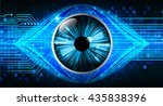 blue abstract light hi speed... | Shutterstock .eps vector #435838396