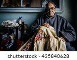 kashmir march 19  man working...   Shutterstock . vector #435840628