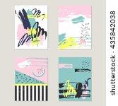 abstract trendy vector...   Shutterstock .eps vector #435842038