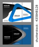 brochure design template waves... | Shutterstock .eps vector #435848128