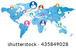 social network vector  | Shutterstock .eps vector #435849028