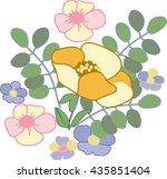 a bouquet of flowers   Shutterstock .eps vector #435851404