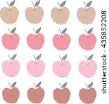 pink apples | Shutterstock .eps vector #435852208