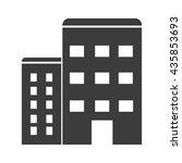 apartment icon. flat vector...   Shutterstock .eps vector #435853693