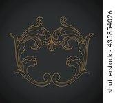 vintage baroque ornament. retro ... | Shutterstock .eps vector #435854026