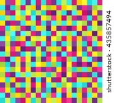 pixel pattern. vector seamless... | Shutterstock .eps vector #435857494