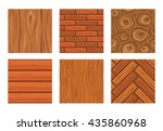 cartoon wooden seamless... | Shutterstock .eps vector #435860968