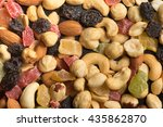 nuts and candied fruits macro ... | Shutterstock . vector #435862870