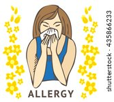 allergies. hay fever on white... | Shutterstock .eps vector #435866233