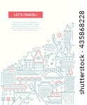 lets travel   vector line... | Shutterstock .eps vector #435868228