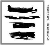 brush stroke collection | Shutterstock .eps vector #435868588