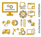 development icon set | Shutterstock .eps vector #435869044