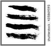 brush stroke collection | Shutterstock .eps vector #435869593