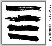 brush stroke collection | Shutterstock .eps vector #435869710