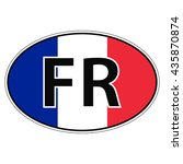 sticker on car  flag of france  ...