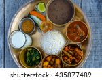 Traditional Nepalese Thali In A ...