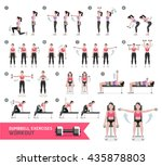 woman dumbbell workout fitness... | Shutterstock .eps vector #435878803