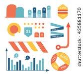 set cartoon graph  diagram ... | Shutterstock .eps vector #435881170