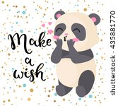 make a wish. happy birthday  ... | Shutterstock .eps vector #435881770