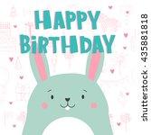happy birthday   hand drawn... | Shutterstock .eps vector #435881818