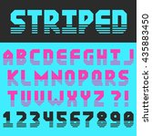 geometric font with clipped... | Shutterstock .eps vector #435883450