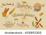 vector vintage bakery shop sign ... | Shutterstock .eps vector #435892303