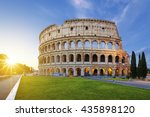 view of colosseum in rome at... | Shutterstock . vector #435898120