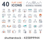 set vector line icons in flat... | Shutterstock .eps vector #435899944