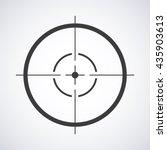 target icon  sight sniper... | Shutterstock .eps vector #435903613