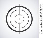 target icon  sight sniper... | Shutterstock .eps vector #435903673