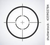 target icon  sight sniper...   Shutterstock .eps vector #435903784