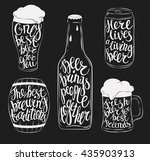 beer pint glassware and bottle  ... | Shutterstock .eps vector #435903913