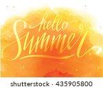 hello summer  hand written... | Shutterstock .eps vector #435905800