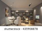 library room armchair design 3d ... | Shutterstock . vector #435908878