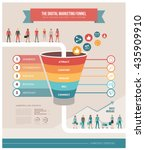 the digital marketing funnel... | Shutterstock .eps vector #435909910