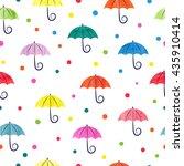 Watercolor Umbrellas Seamless...